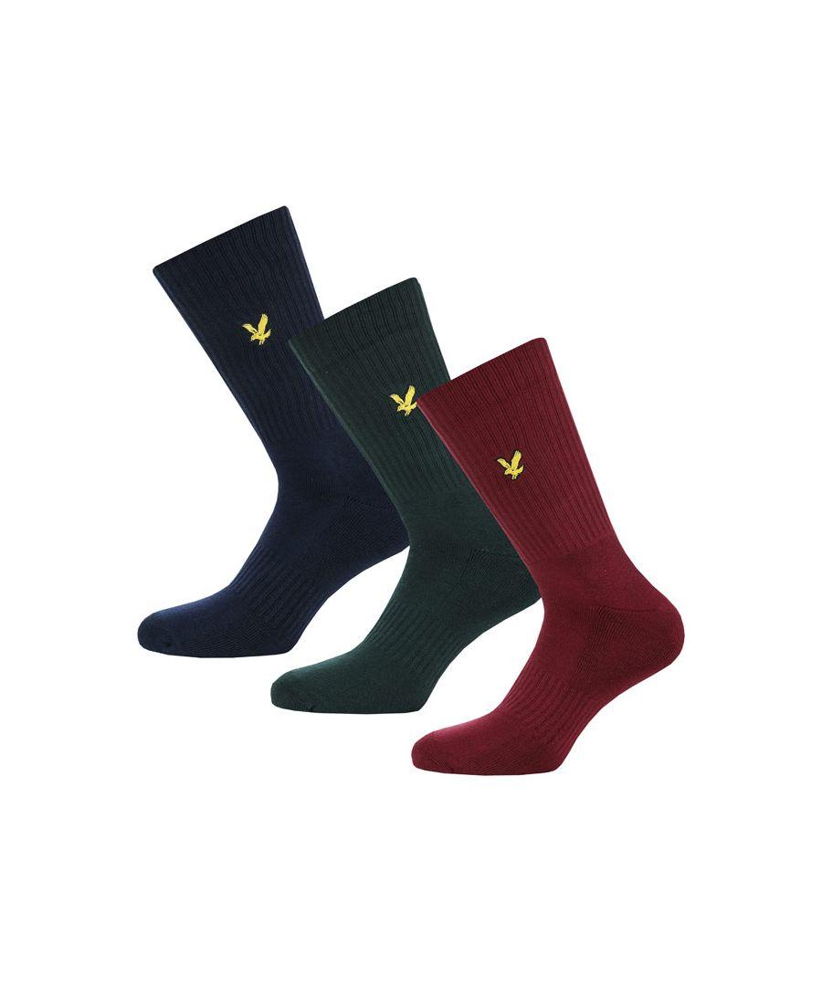 Image for Men's Lyle And Scott Hamilton 3 Pack Socks in navy green