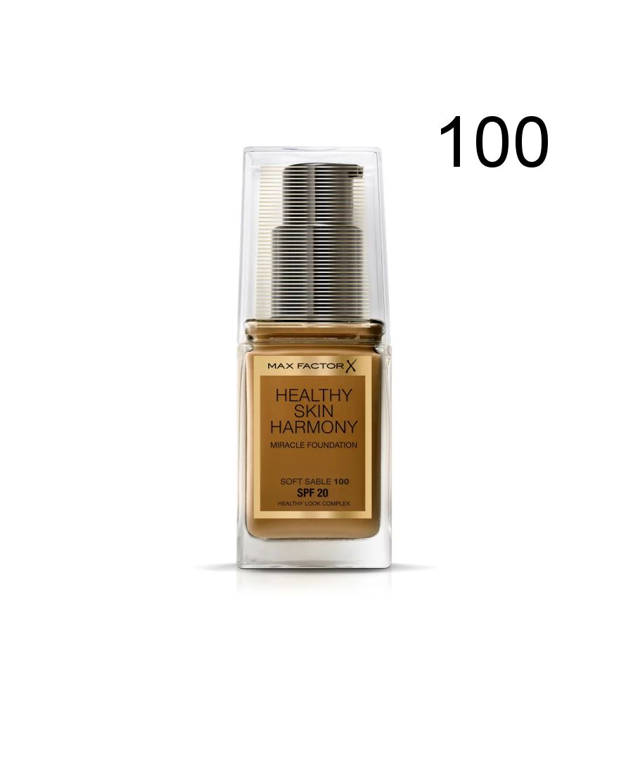 Image for Max Factor Healthy Skin Harmony Miracle Foundation - 100 Soft Sable