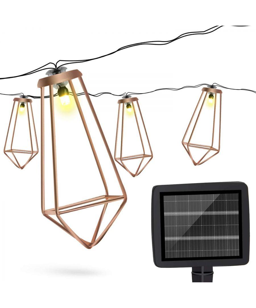 Image for Haven Solar String LED Lights 10 pcs – Rose Gold
