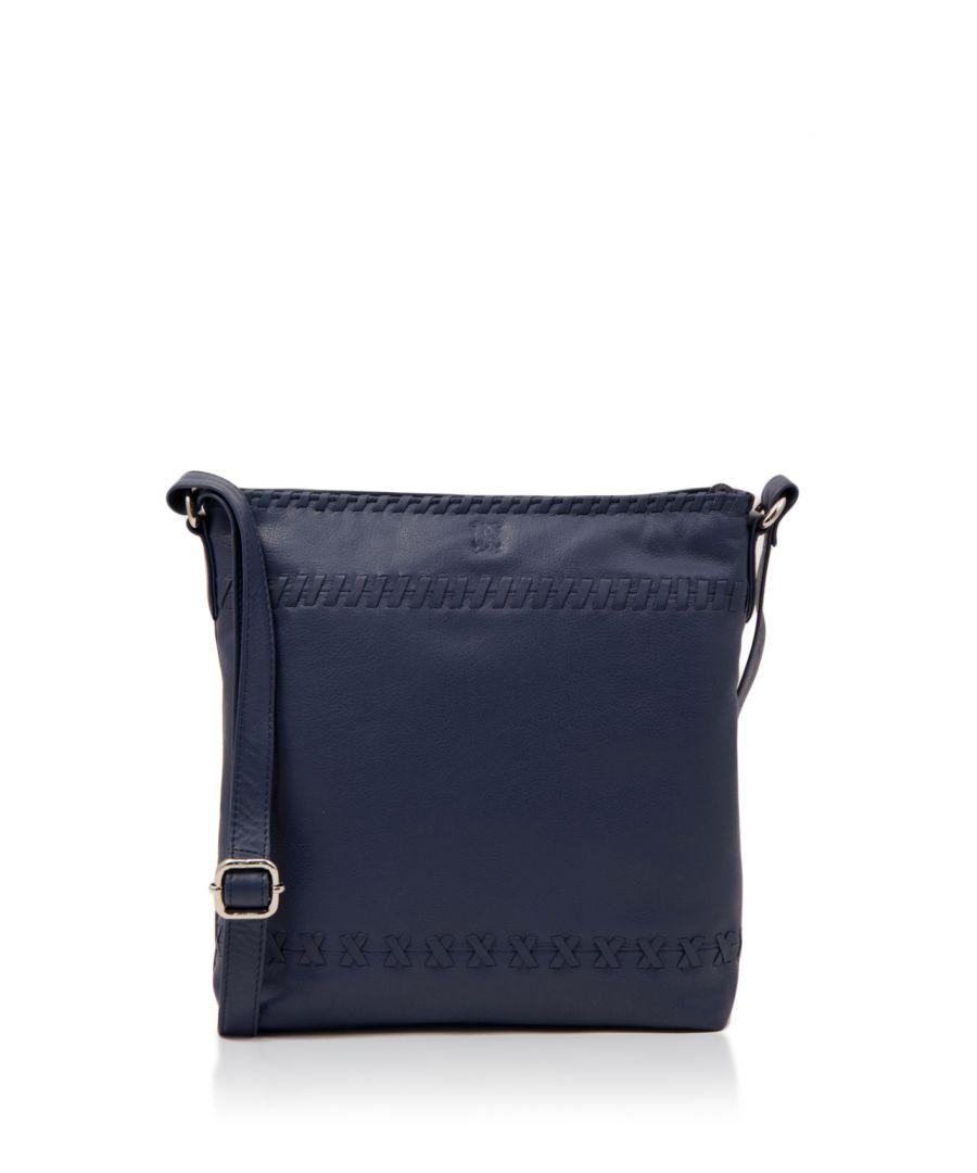 Image for Hawkshead Leather Cross Body Bag in Denim Blue