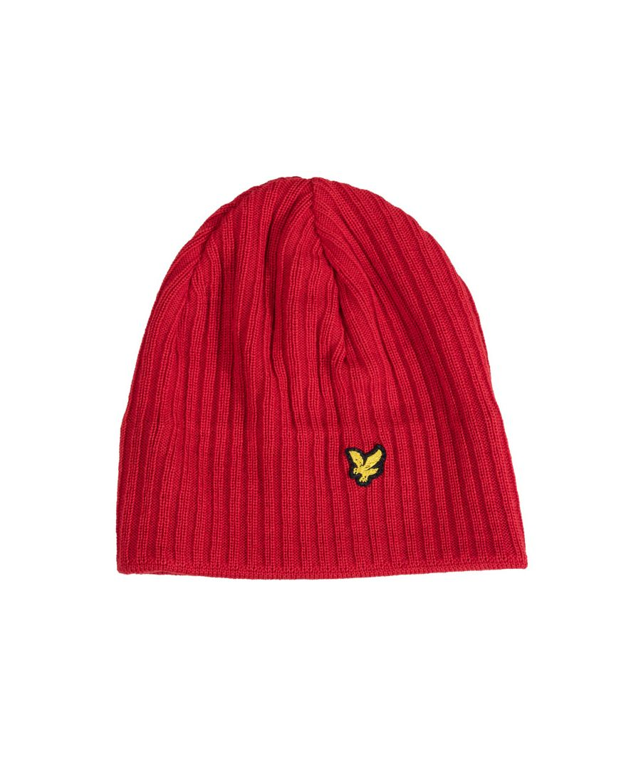 Image for Accessories Lyle And Scott Rib Beanie in Red