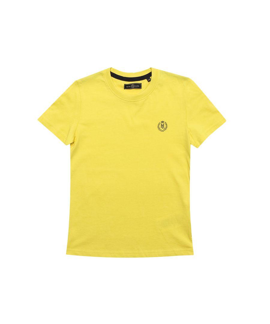 Image for Boy's Henri Lloyd Junior Radar T-Shirt in Yellow