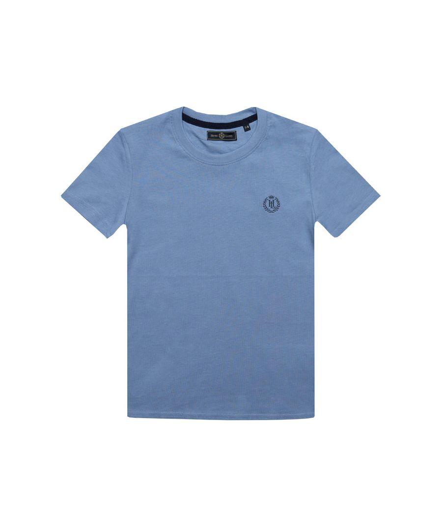 Image for Boy's Henri Lloyd Junior Radar T-Shirt in Light Blue