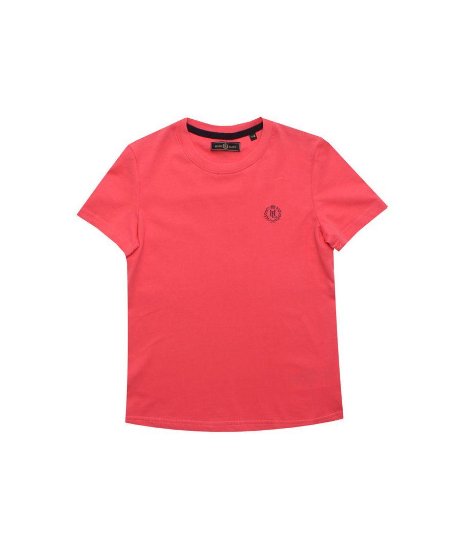 Image for Boy's Henri Lloyd Junior Radar T-Shirt in Coral