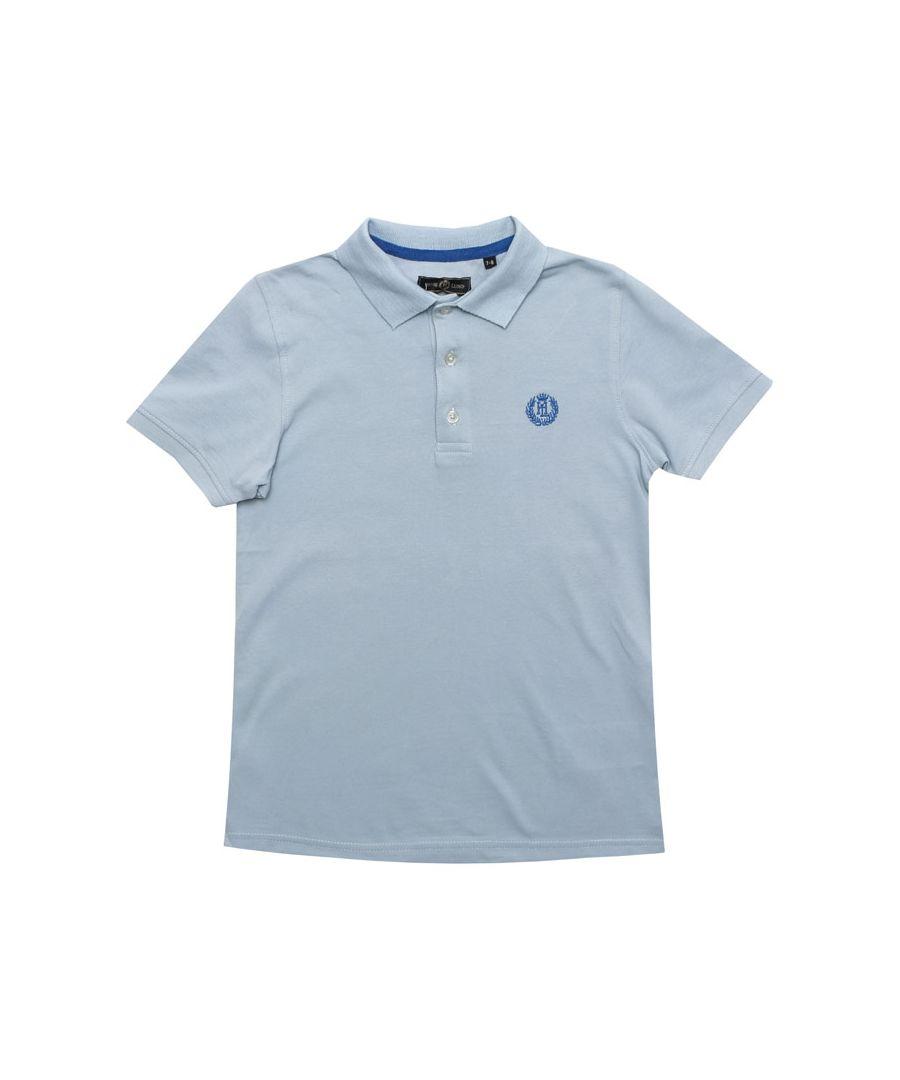 Image for Boy's Henri Lloyd Infant Pop Collar Polo Shirt in Blue