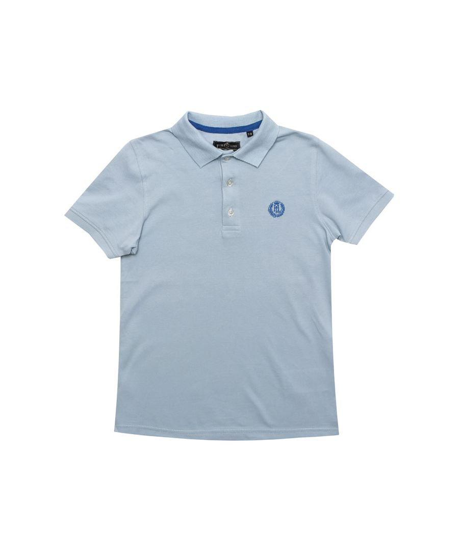 Image for Boy's Henri Lloyd Junior Pop Collar Polo Shirt in Blue