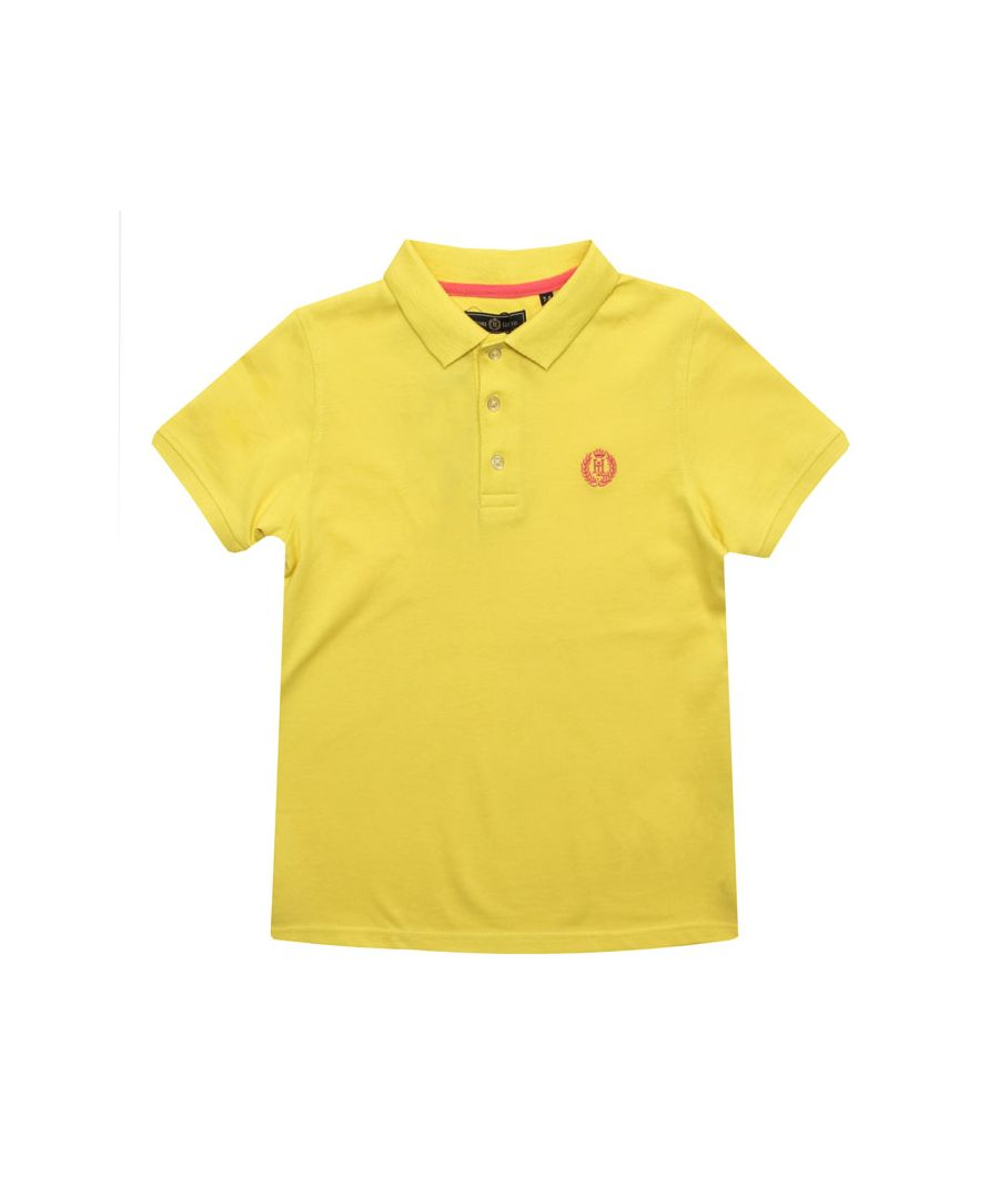 Image for Boy's Henri Lloyd Infant Pop Collar Polo Shirt in Yellow