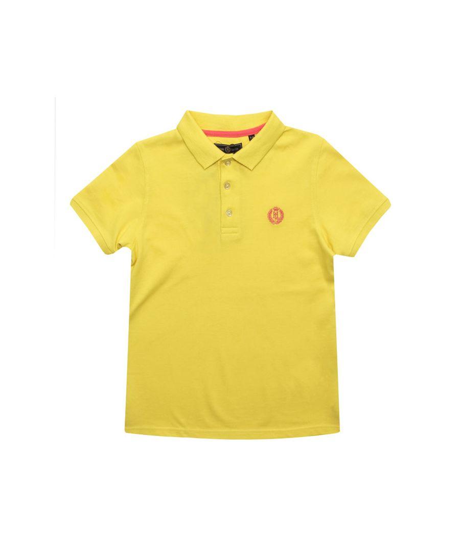 Image for Boy's Henri Lloyd Junior Pop Collar Polo Shirt in Yellow