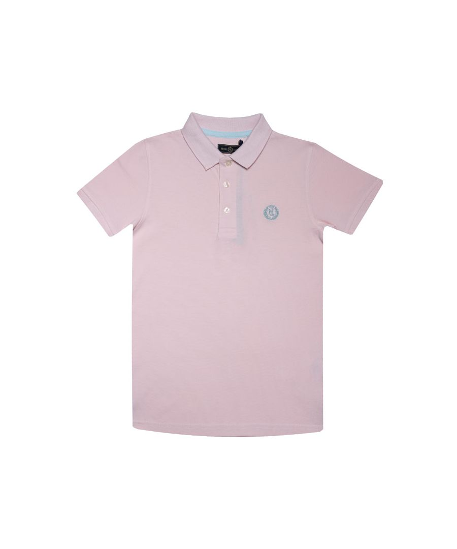 Image for Boy's Henri Lloyd Infant Pop Collar Polo Shirt in Pink