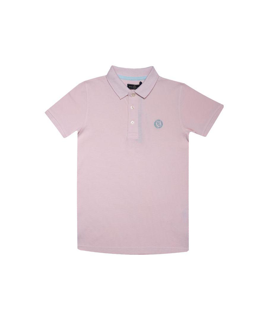 Image for Boy's Henri Lloyd Junior Pop Collar Polo Shirt in Pink