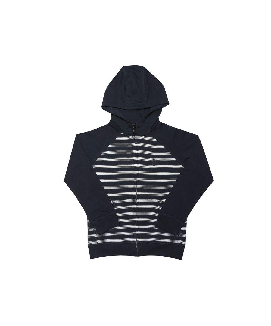Image for Boy's Henri Lloyd Junior Stripe Zip Hoody in Navy