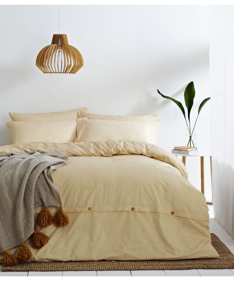Image for Holbury Duvet Set Ochre