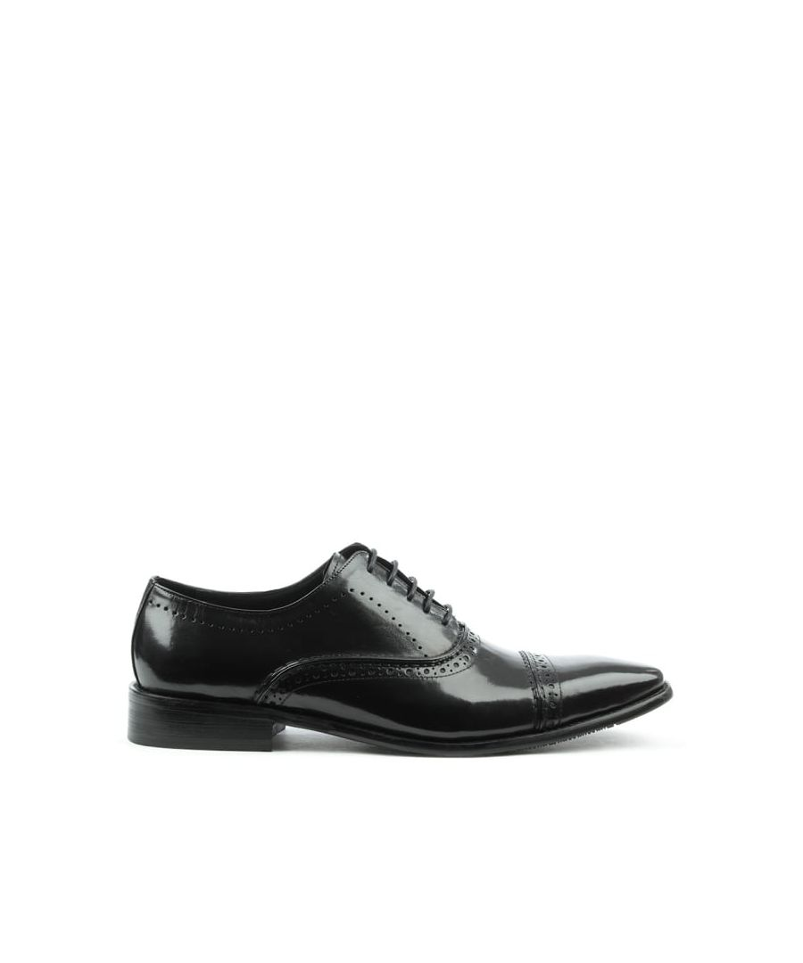 Image for Daniel Holnest Leather Square Toe Brogue