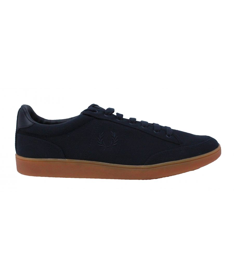 Image for Fred Perry B8248 608 Hopman Twill Leather Trainers