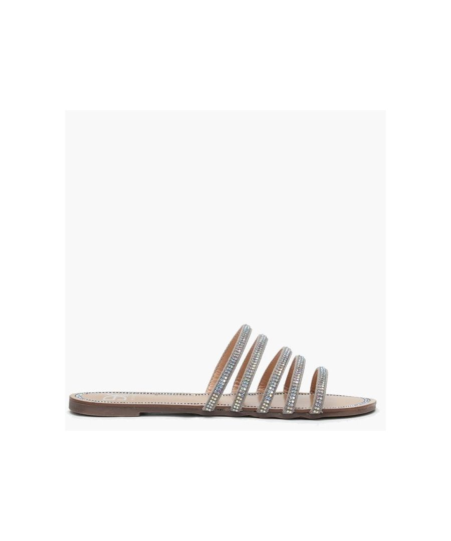 Image for DF By Daniel Hosk Diamante Strap Mules