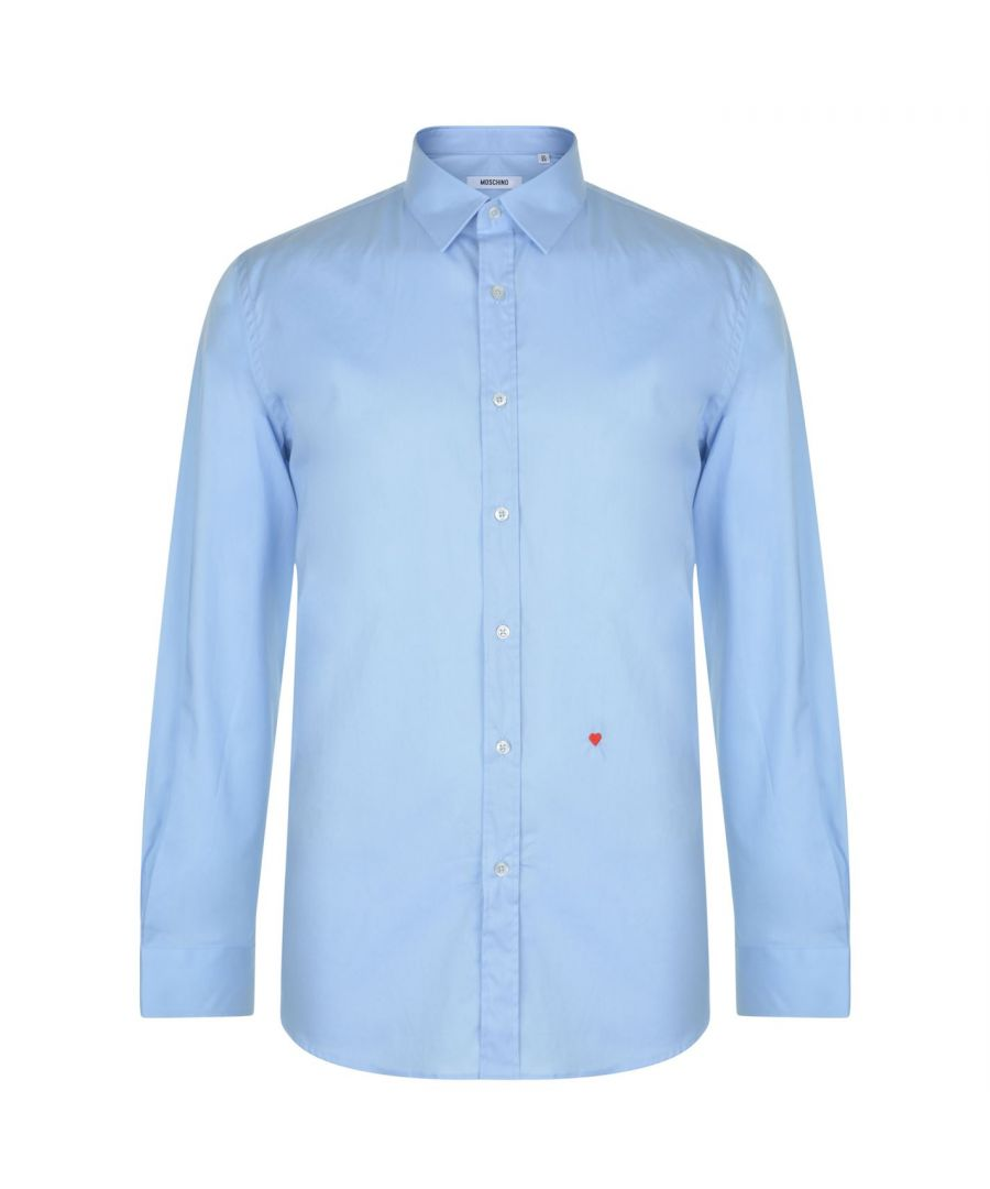 Image for Moschino HR701X1B 65301 04 Light Blue Casual Shirt