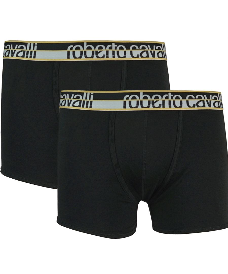 Image for Roberto Cavalli Black Boxer Shorts Two Pack