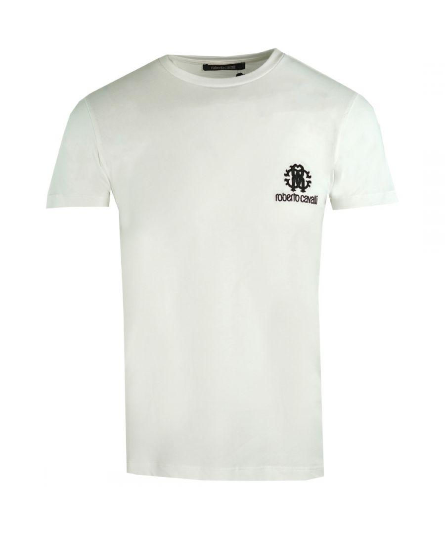 Image for Roberto Cavalli RC Chest Logo White T-Shirt