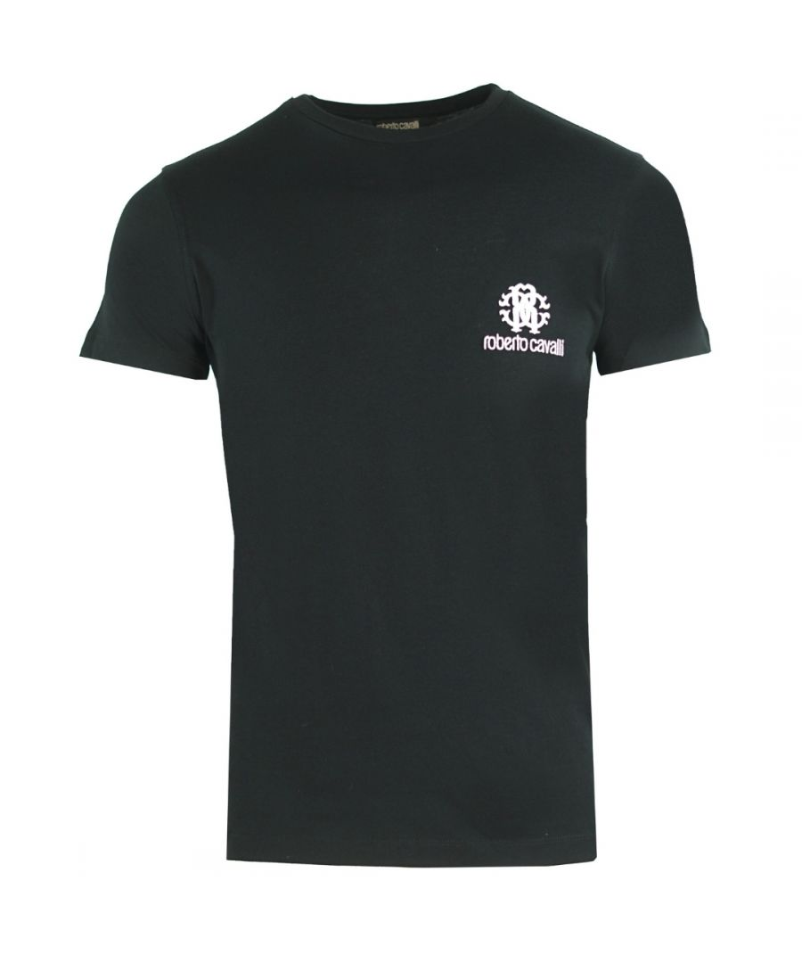 Image for Roberto Cavalli RC Chest Logo Black T-Shirt