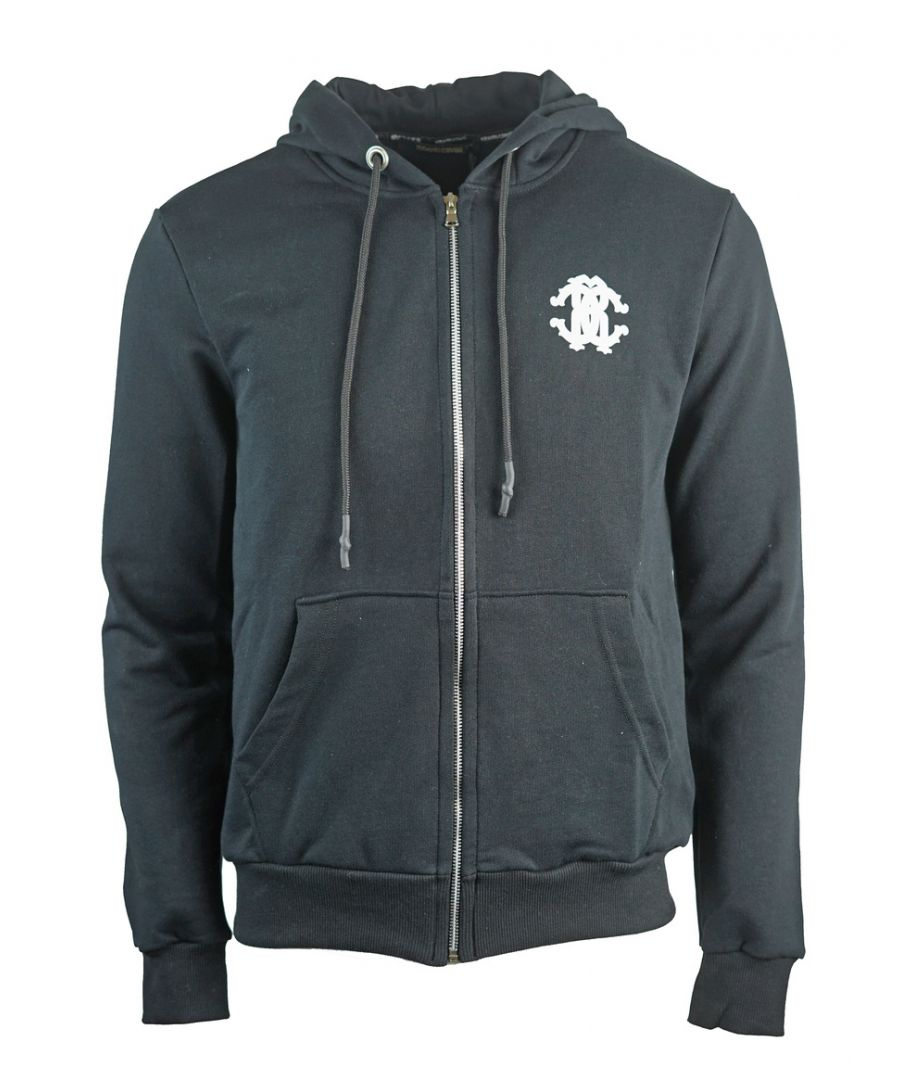 Image for Roberto Cavalli Crest Hooded Sweater Jacket