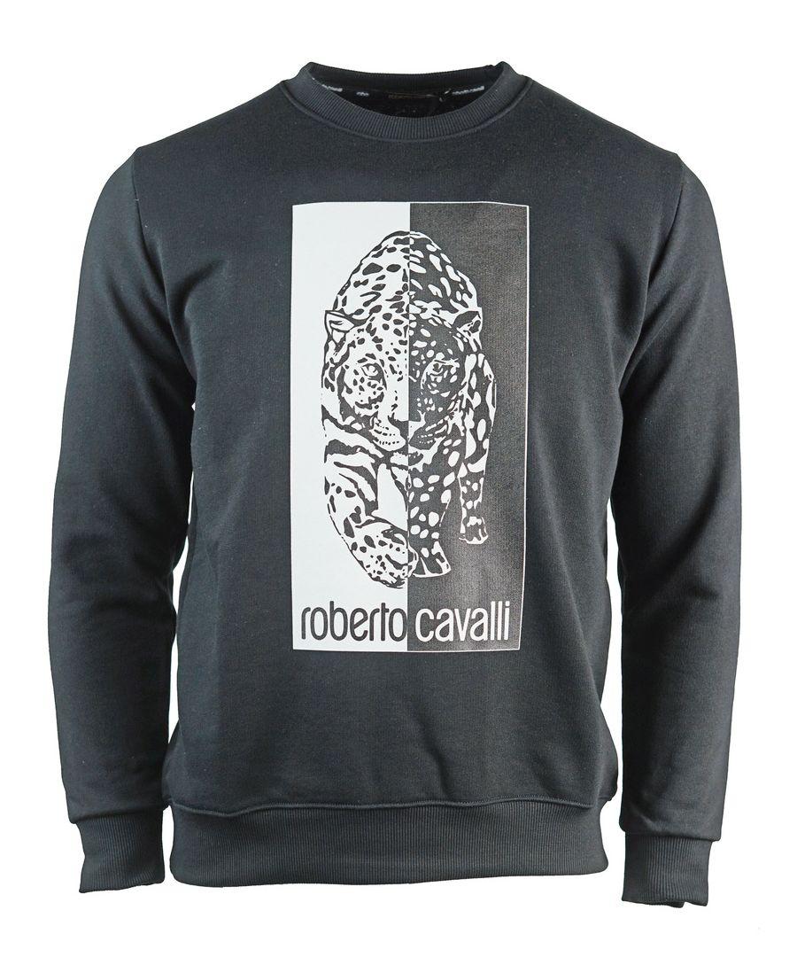 Image for Roberto Cavalli Tiger Logo Black Sweatshirt