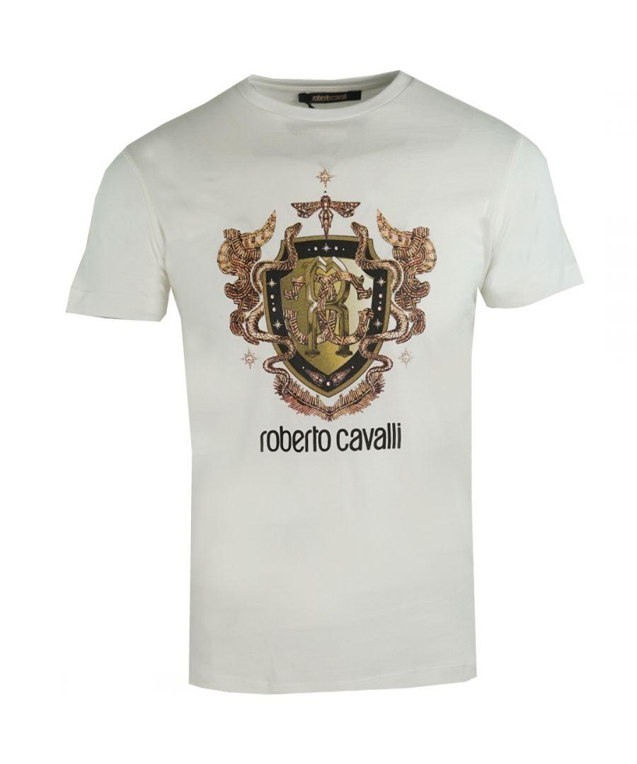 Image for Roberto Cavalli RC Shield Logo White T-Shirt