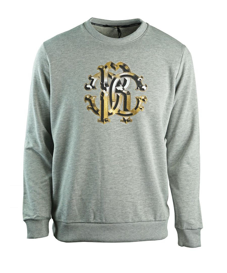 Image for Roberto Cavalli Large Crest Grey Sweatshirt