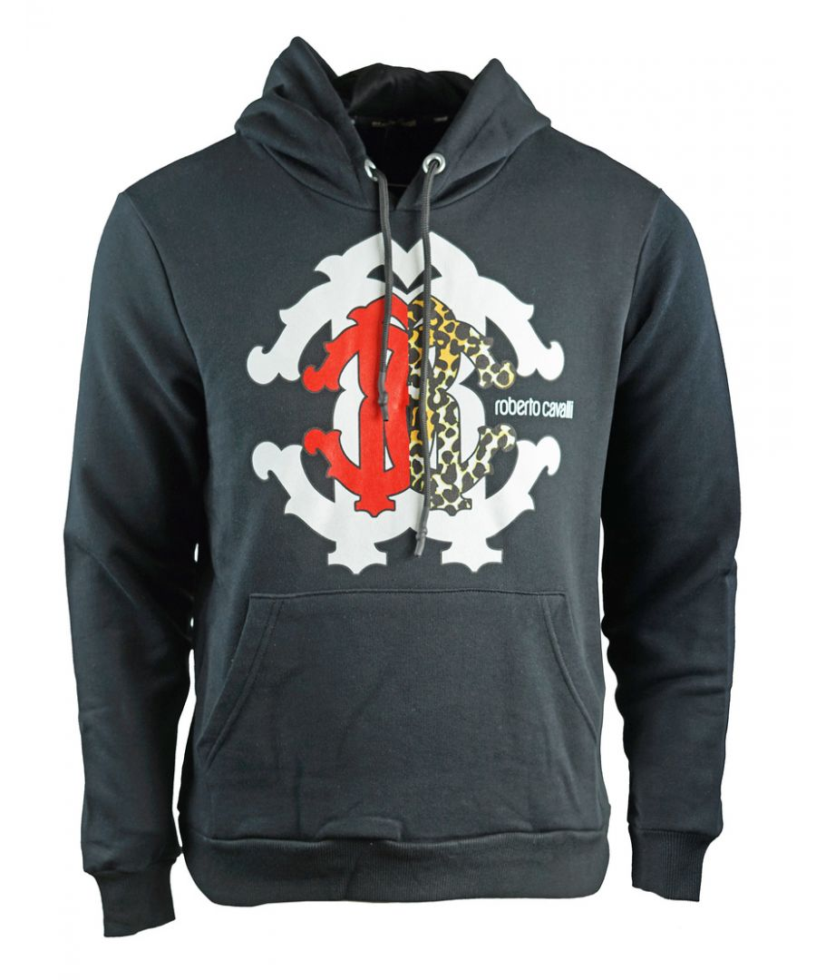 Image for Roberto Cavalli Large Crest Black Hoodie