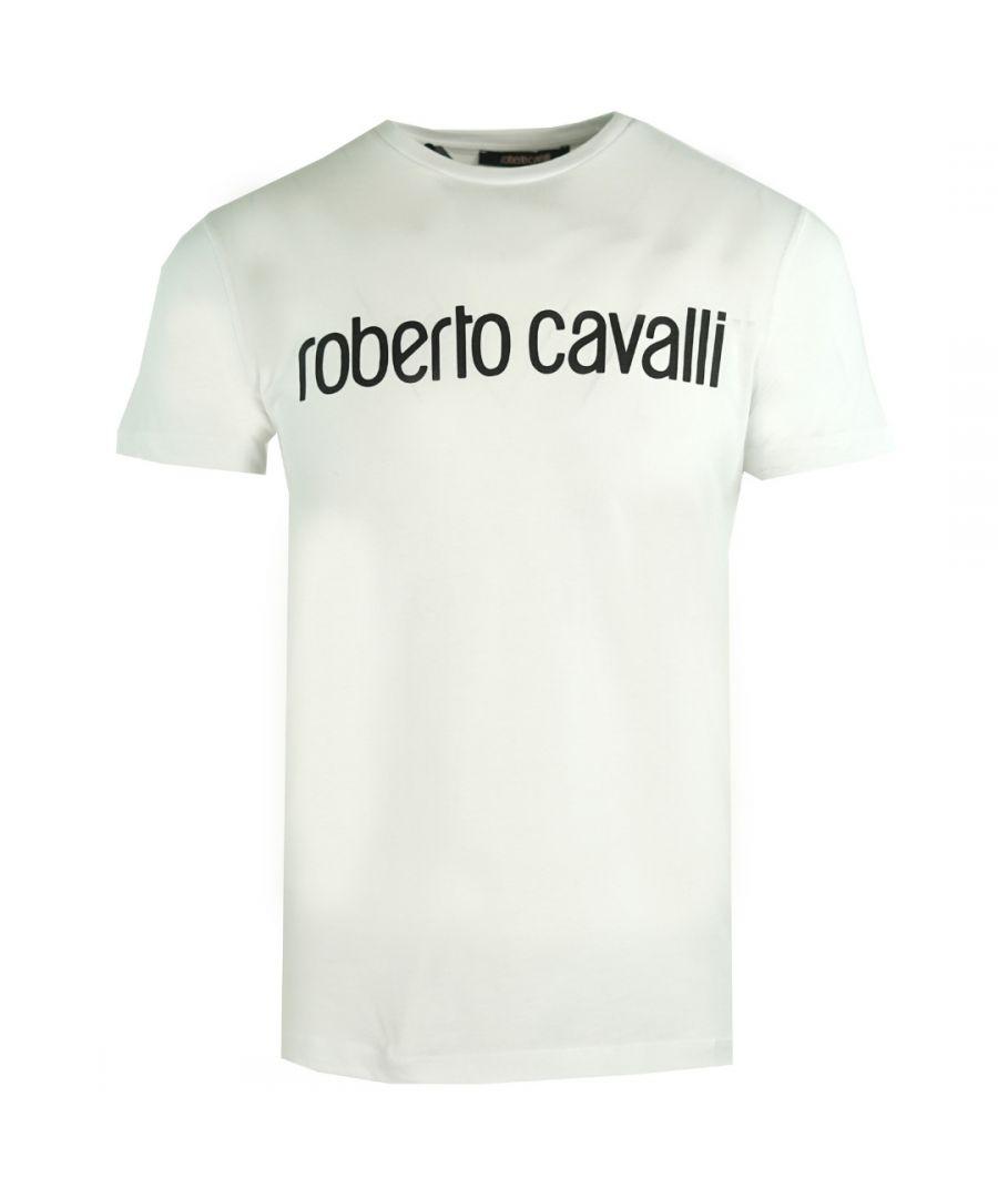 Image for Roberto Cavalli Logo White T-Shirt