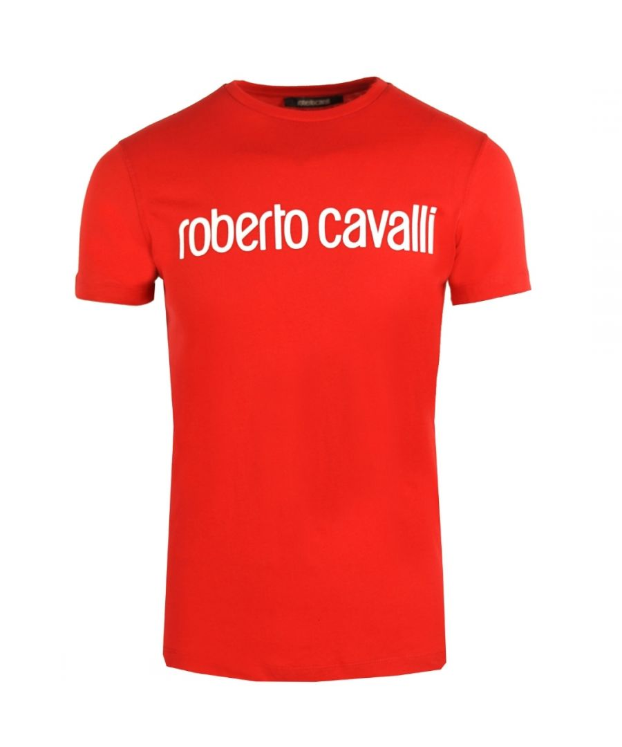 Image for Roberto Cavalli Logo Red T-Shirt