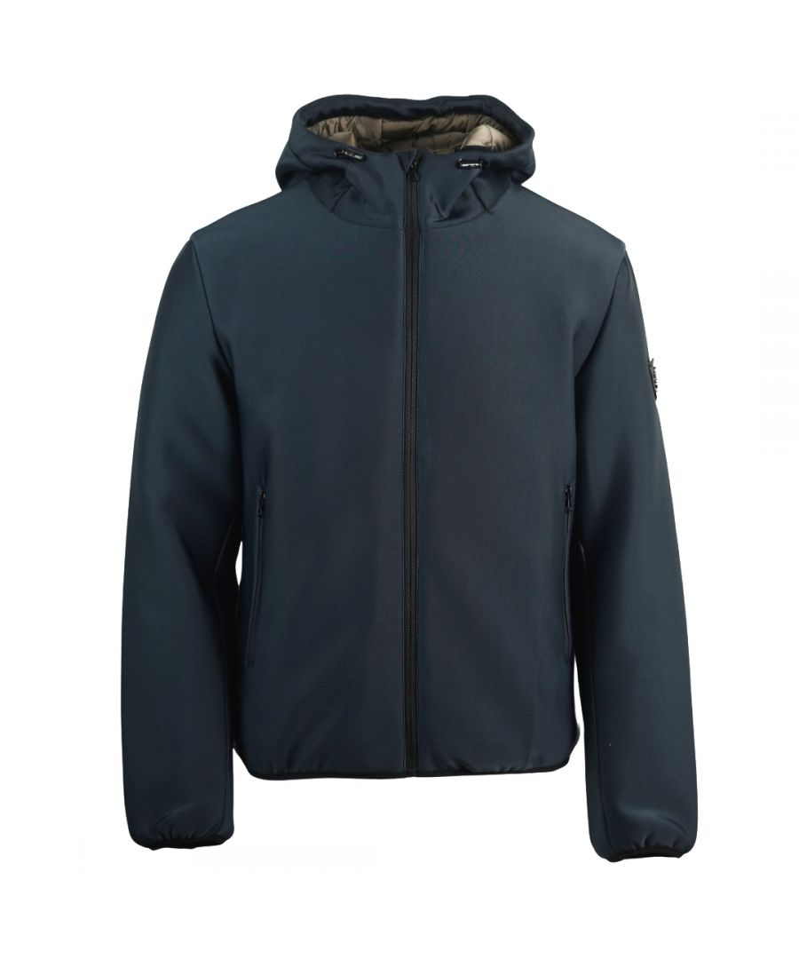 Image for Roberto Cavalli Hooded Navy Winter Jacket