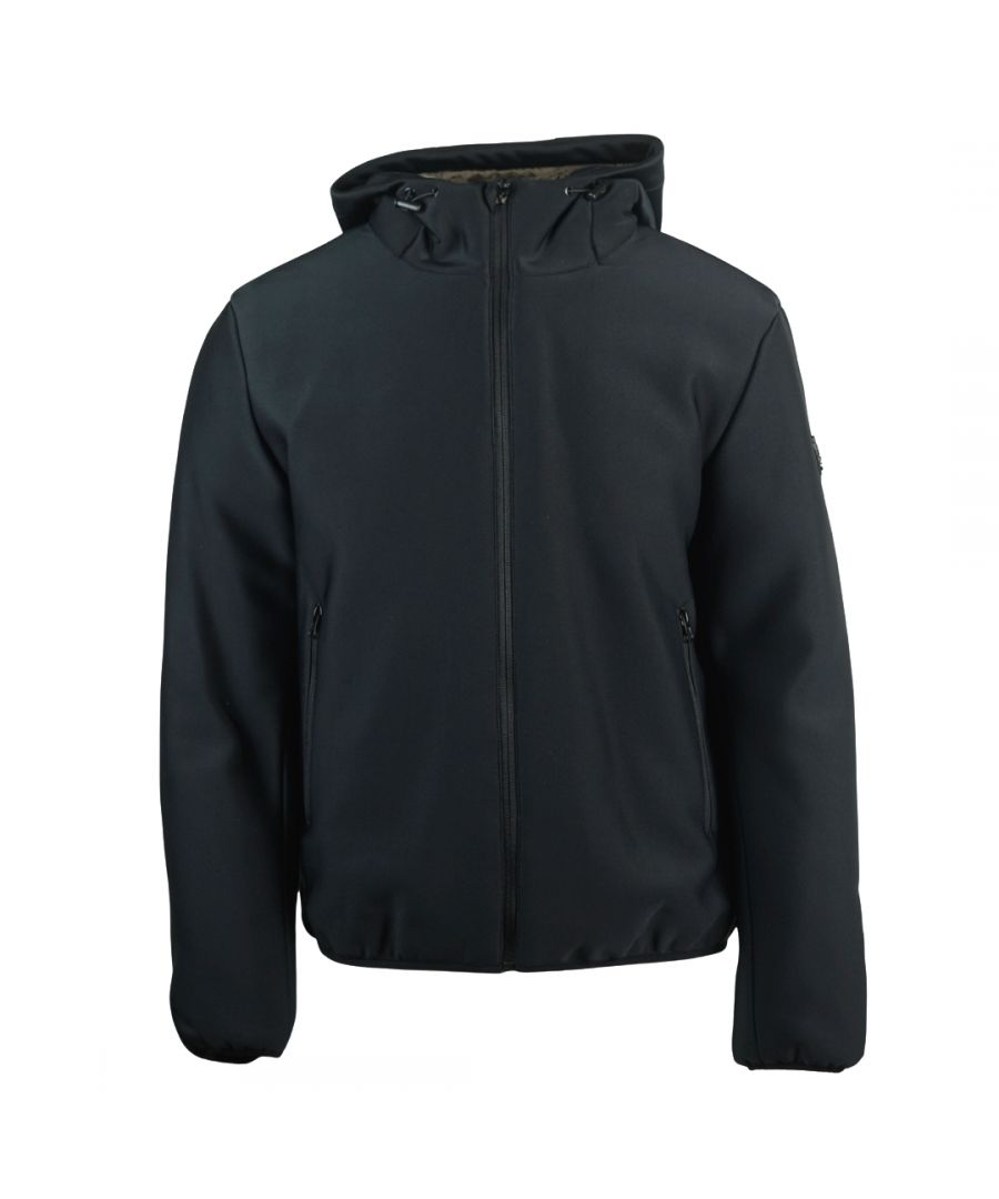 Image for Roberto Cavalli Hooded Black Winter Jacket