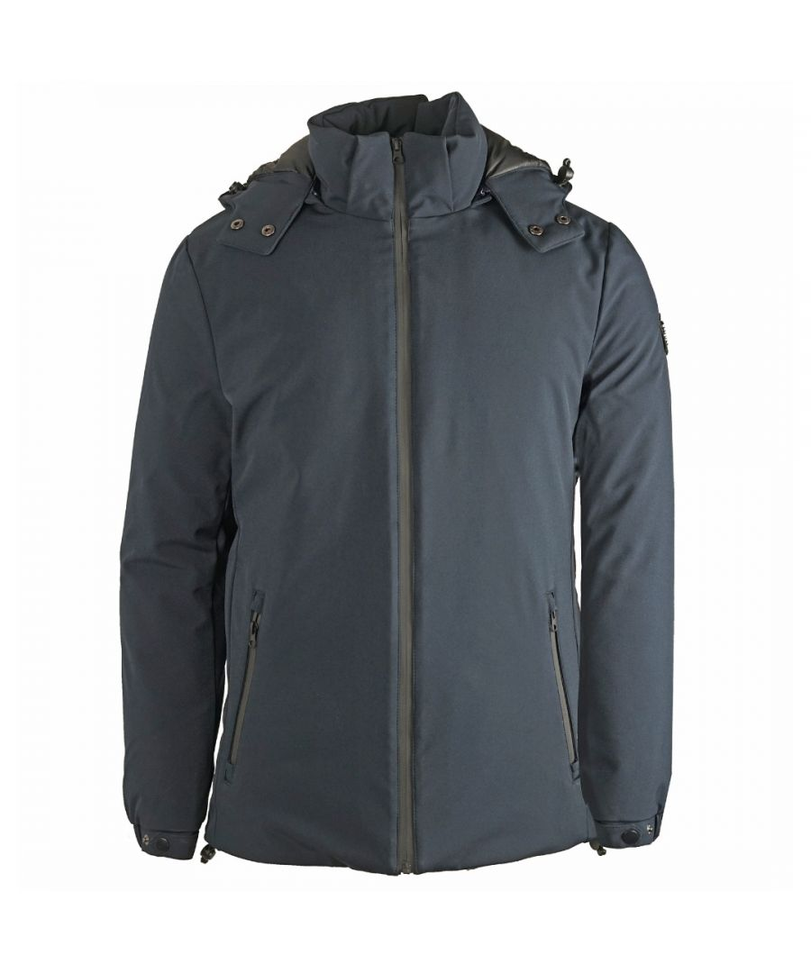Image for Roberto Cavalli Winter Padded Navy Jacket