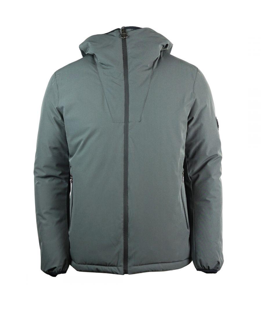Image for Roberto Cavalli Winter Hooded Grey Jacket