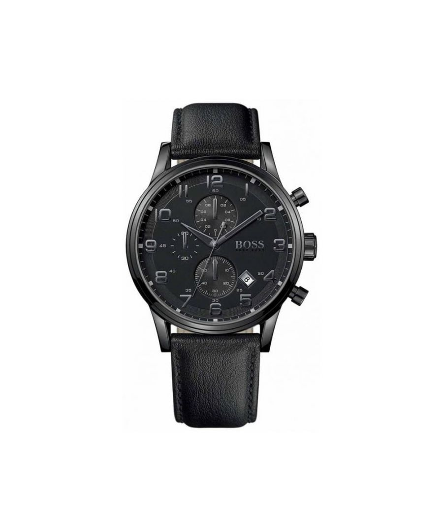 Image for Hugo Boss Mens' Aeroliner Chronograph Watch 1512567