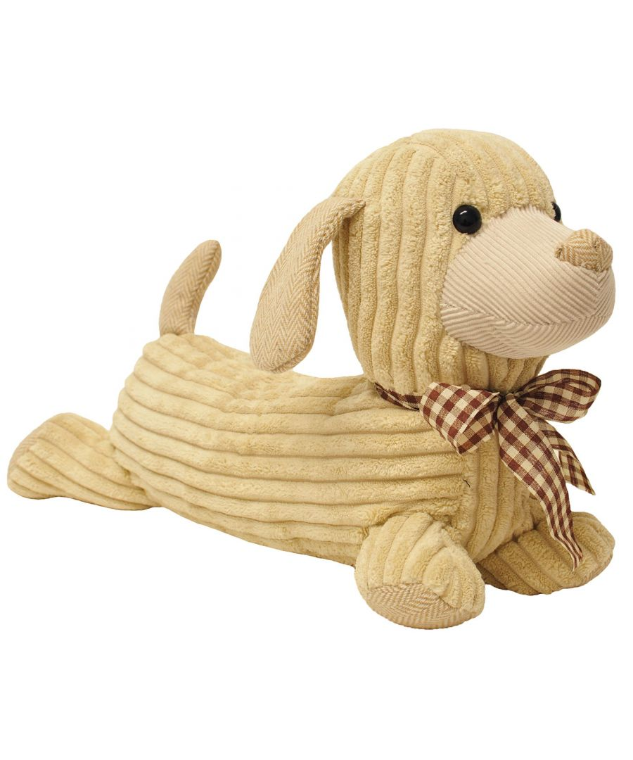 Image for Hugo Dog Door Stop Cream