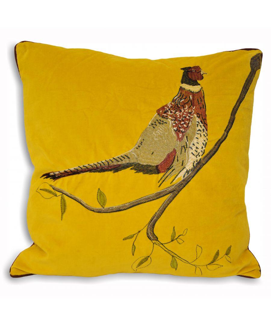 Image for H/Velvet 45X45 P/C Pheasant Must