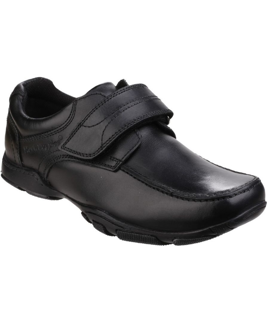 Image for Hush Puppies Boys Freddy 2 Senior Back to School Smart Leather Shoes