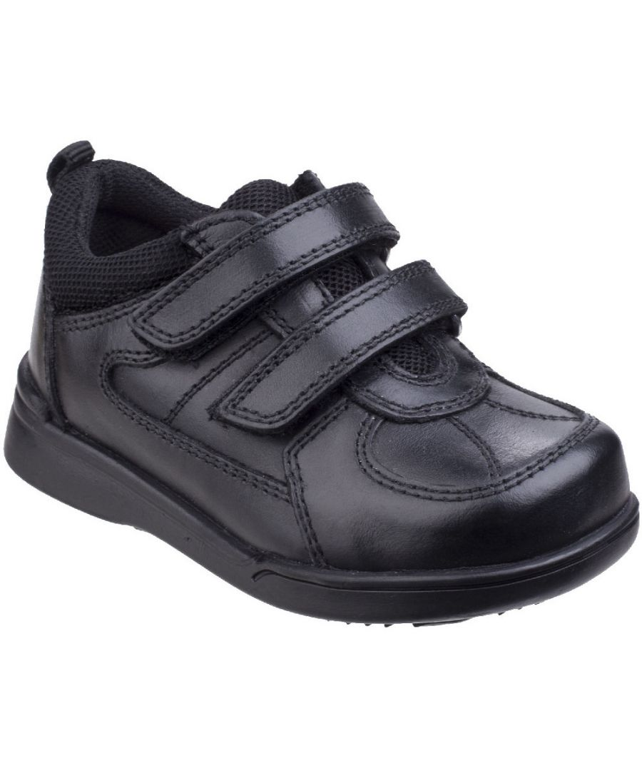 Image for Hush Puppies Boys Liam Durable Back To School Leather Smart Shoes