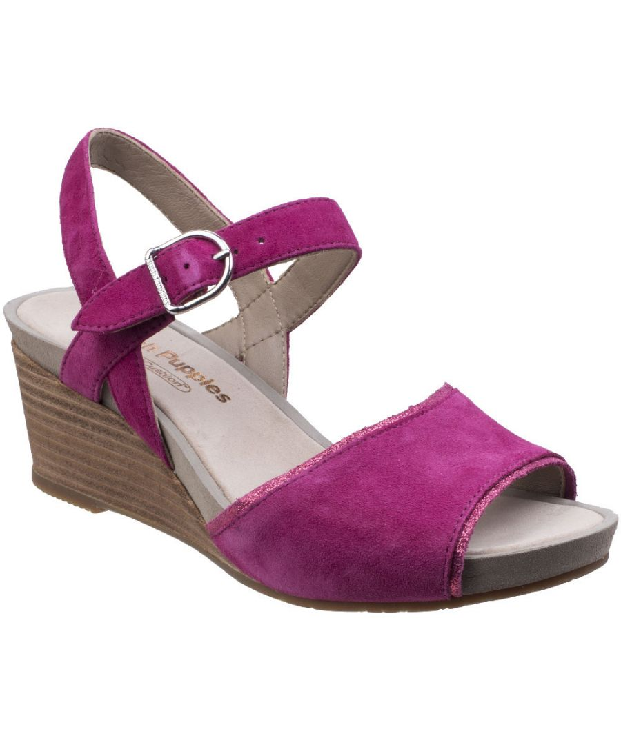 Image for Hush Puppies Womens/Ladies Cassale Buckle Ankle Strap Wedge Sandals