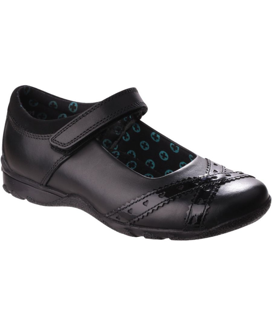 Image for Hush Puppies Girls Olivia Adjustable Leather School Shoes