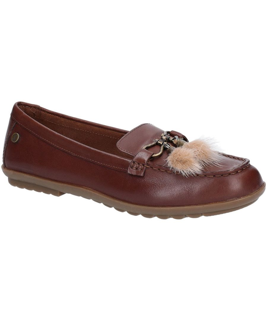 Image for Hush Puppies Womens Aidi Puff Slip On Leather Loafer Shoes