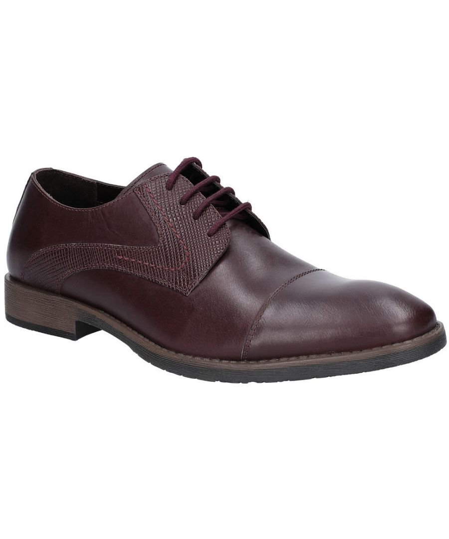 Image for Hush Puppies Mens Derby Plain Toe Oxford Leather Shoes