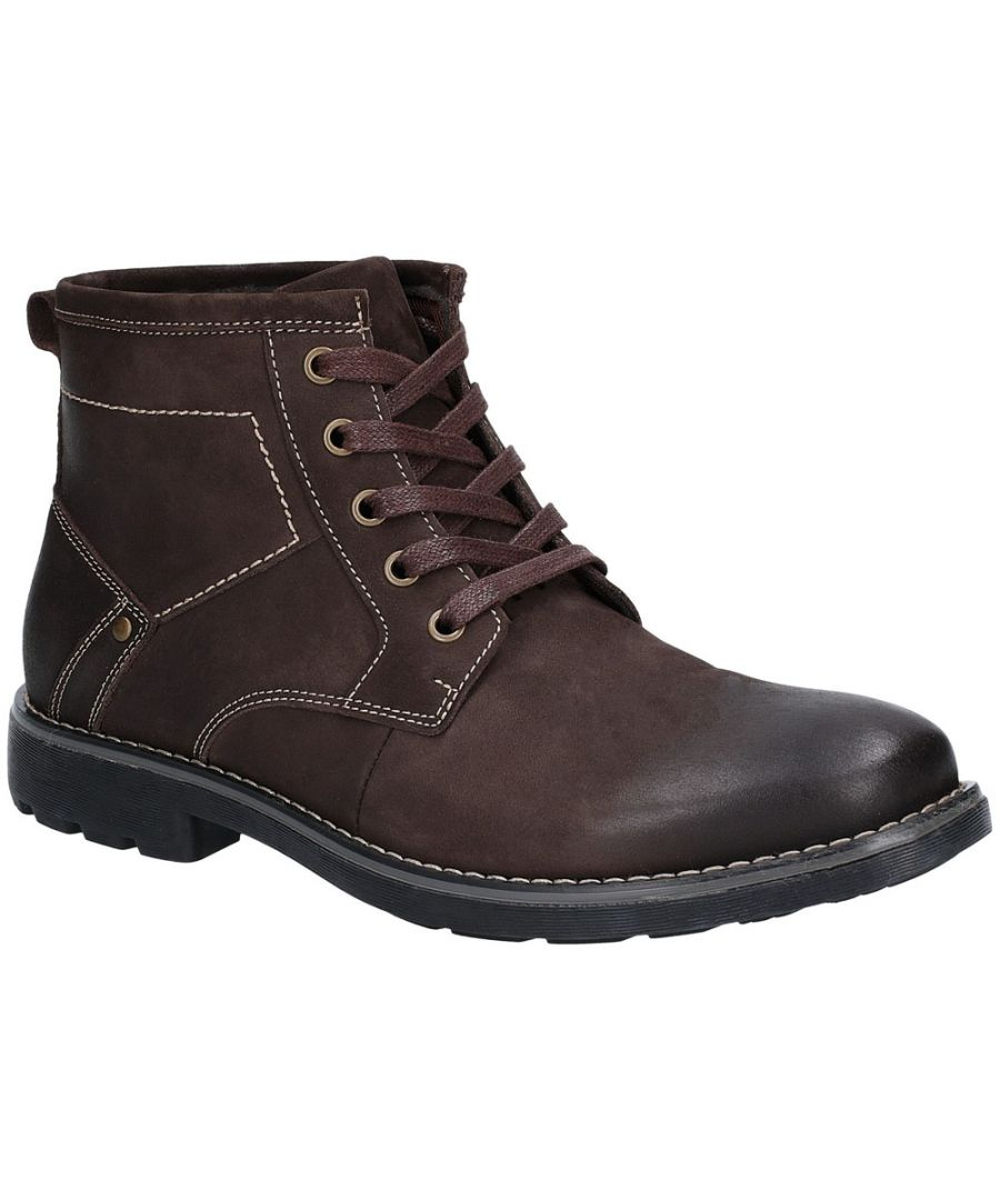 Image for Hush Puppies Mens Duke Chukka Leather Padded Ankle Boots