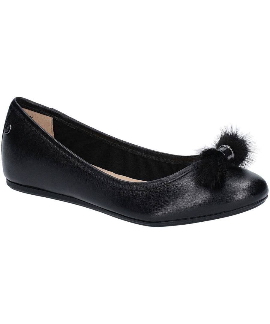 Image for Hush Puppies Womens Heather Puff Flat Leather Ballet Shoes