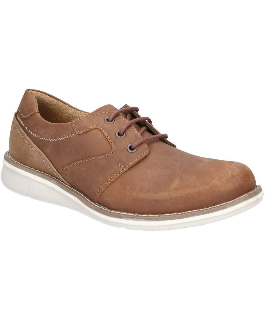 Image for Hush Puppies Mens Chase Casual Lace Up Stylish Leather Shoes