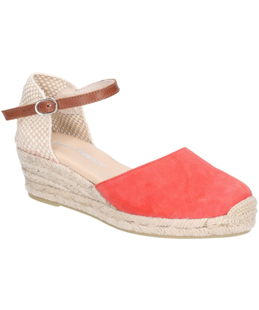 Image for Hush Puppies Womens Maya Wedge Buckled Espadrille Sandals