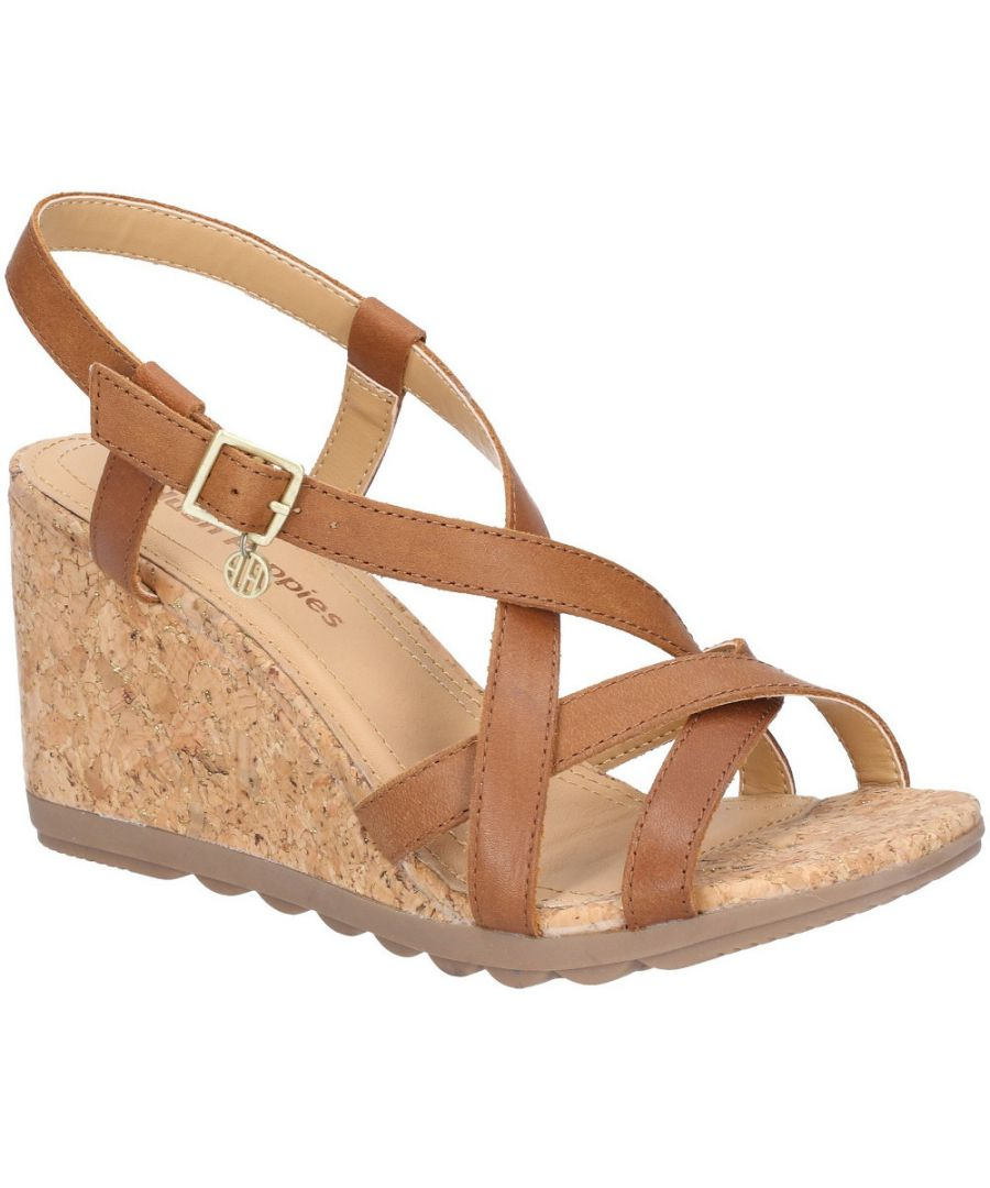 Image for Hush Puppies Womens Pekingese Strappy Wedge Buckle Sandals