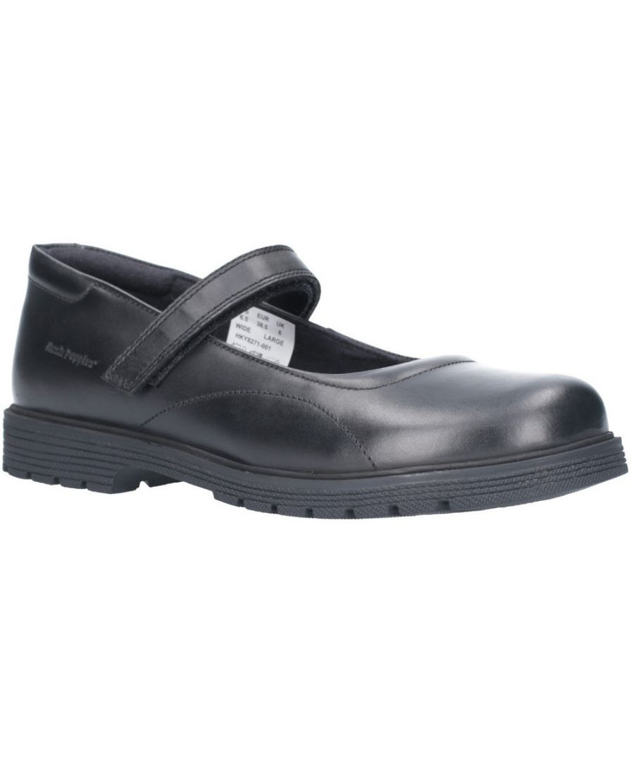 Image for Hush Puppies Girls Tally Senior Mary Jane School Shoes