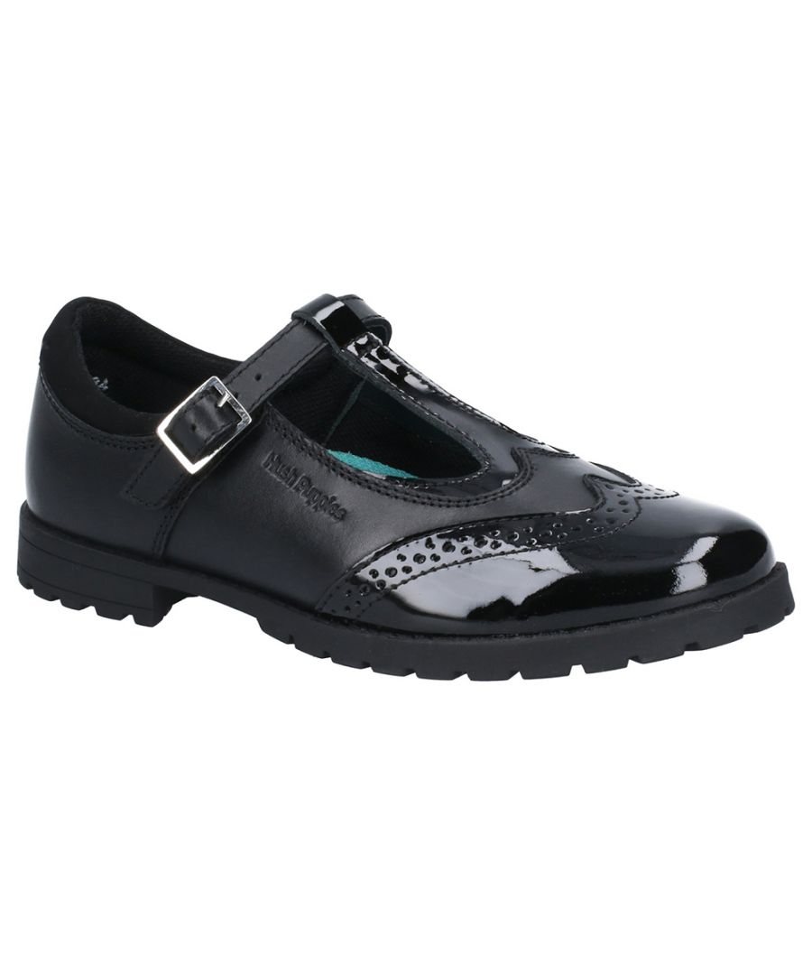 Image for Hush Puppies Girls Maisie Leather Mary Jane School Shoes